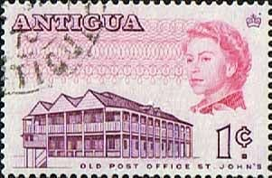 Antigua 1966 SG 181a Old Post Office Fine Used