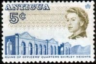 Antigua 1966 SG 185 Ruins of Officers Quarters Fine Mint