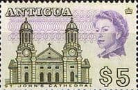 Antigua 1966 SG 195 St. Johns Cathedral Fine Mint