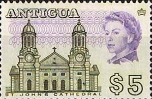 Antigua 1966 SG 195a St. Johns Cathedral Fine Mint