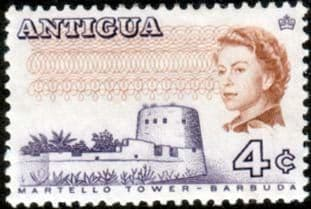 Antigua 1969 SG 238A Martello Tower Fine Mint