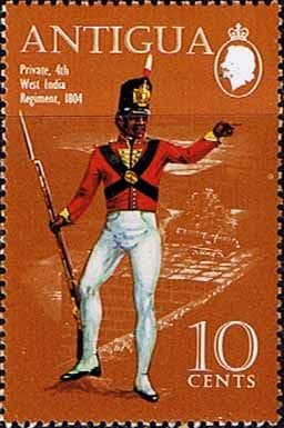 Antigua 1970 Military Uniforms SG 291 4th West India Regiment 1804 Fine Mint