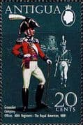 Antigua 1970 Military Uniforms SG 292 60th Regiment The Royal American 1809 Fine Mint