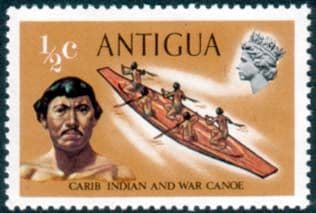 Antigua 1970 Ships and Captains SG 269 Carib Indian and War Canoe Fine Mint
