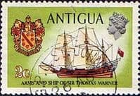 Antigua 1970 Ships and Captains SG 271 Sir Thomas Warners emblem and Concepcion Fine Used
