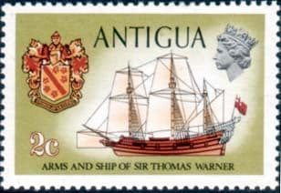 Antigua 1970 Ships and Captains SG 271a Sir Thomas Warners emblem and Concepcion Fine Mint