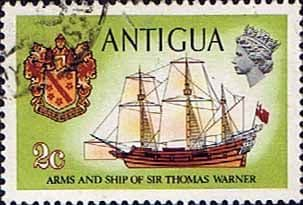 Antigua 1970 Ships and Captains SG 271a Sir Thomas Warners emblem and Concepcion Fine Used