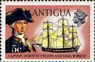 Antigua 1970 Ships and Captains SG 274 Nelson and H.M.S. Boreas Fine Mint