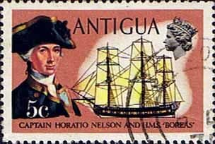Antigua 1970 Ships and Captains SG 274 Nelson and H.M.S. Boreas Fine Used