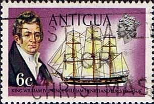 Antigua 1970 Ships and Captains SG 275 William IV and H.M.S. Pegasus Fine Used