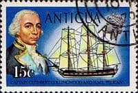 Antigua 1970 Ships and Captains SG 277 Captain Collingwood and H.M.S. Pelican Fine Used