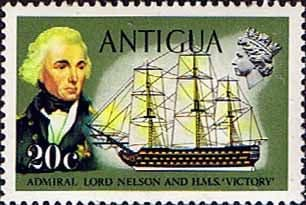 Antigua 1970 Ships and Captains SG 278 Nelson and H.M.S. Victory Fine Mint