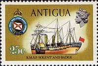 Antigua 1970 Ships and Captains SG 279 Solent I Paddle Steamer Fine Mint