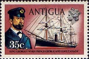 Antigua 1970 Ships and Captains SG 280 George V and H.M.S. Canada Fine Mint
