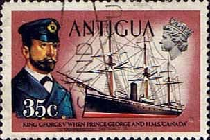Antigua 1970 Ships and Captains SG 280 George V and H.M.S. Canada Fine Used