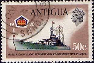 Antigua 1970 Ships and Captains SG 281 H.M.S. Renown Battle Cruiser Fine Used