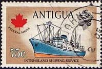 Antigua 1970 Ships and Captains SG 282 Federal Maple Freighter Fine Used