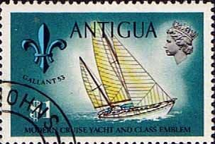 Antigua 1970 Ships and Captains SG 283 Sol Quest Yacht and Class Emblem Fine Used