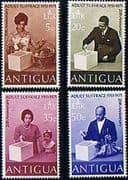 Antigua 1971 Adult Suffrage Set Fine Mint