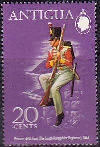 Postage Stamps Antigua 1972 Military Uniforms Fine Mint SG 315 Scott 285