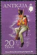 Antigua 1972 Military Uniforms SG 315 Fine Mint