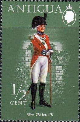 Postage Stamps Antigua 1972 Military Uniforms Fine Mint SG 317 Scott 287