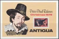 Antigua 1978 Christmas Miniature Sheet Fine Mint