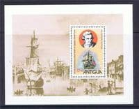 Antigua 1979 Cook Centenary Miniature Sheet Fine Mint