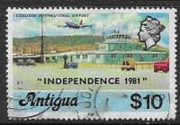 Antigua 1981 Coolidge International Airport Overprinted Independence SG 696B Fine Used