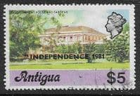 Antigua 1981 Government House Overprinted Independence SG 695B Fine Used
