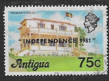 Antigua 1981 Premier's Office Overprinted Independence SG 692B Fine Used