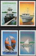 Antigua 1986 Local Boats Set Fine Mint