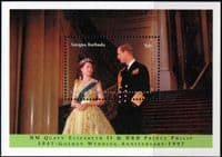 Antigua 1997 Golden Wedding of Queen Elizabeth and Prince Philip Miniature Sheet Fine Mint