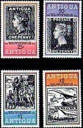 Antigua Barbuda 1979  Rowland Hill Set Overprints Fine Mint