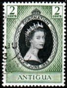 Antigua Queen Elizabeth II 1953 Coronation Fine Used