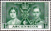 Ascension 1937 George VI Coronation SG 35 Fine Mint