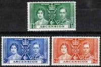 Ascension 1937 King George VI Coronation Set Fine Mint
