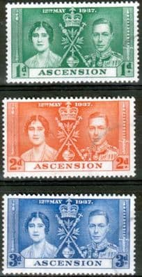 Ascension 1937 King George VI Coronation Stamps