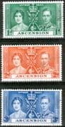 Ascension 1937 King George VI Coronation Set Fine Used