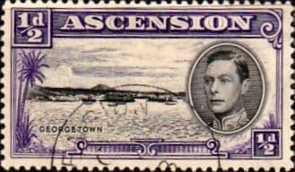 Stamps Ascension 1938 George VI SG 38 Fine Used Scott 40a The Pier