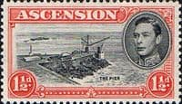 Ascension 1938 George VI SG 40 Fine Mint