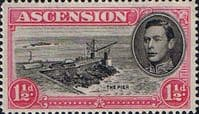 Ascension 1938 George VI SG 40f Fine Mint