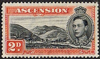 Stamps Ascension 1938 George VI SG 41b Fine Mint Scott 43a Long Beach