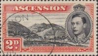 Ascension 1938 George VI SG 41 Fine Used