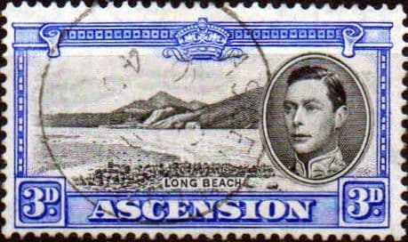 Stamps of Ascension 1938 George VI SG 43a Fine Mint Scott 44c Long Beach