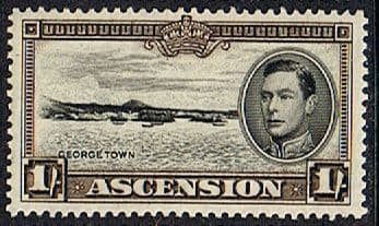 Stamps of Ascension 1938 George VI SG 44 Fine Mint SG 44 Scott 46a George Town
