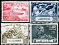 Ascension 1949 Universal Postal Union Set Fine Mint