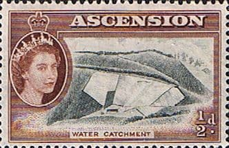Postage Stamps Ascension 1956 Queen Elizabeth II Water Catchment SG 57 Fine Mint Scott 62