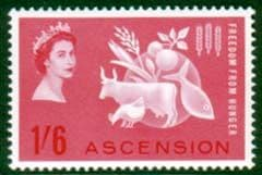 Ascension Freedom From Hunger Stamps Fine Mint
