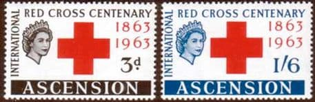 Stamps of Ascension 1963 Red Cross Centenary Fine Mint
